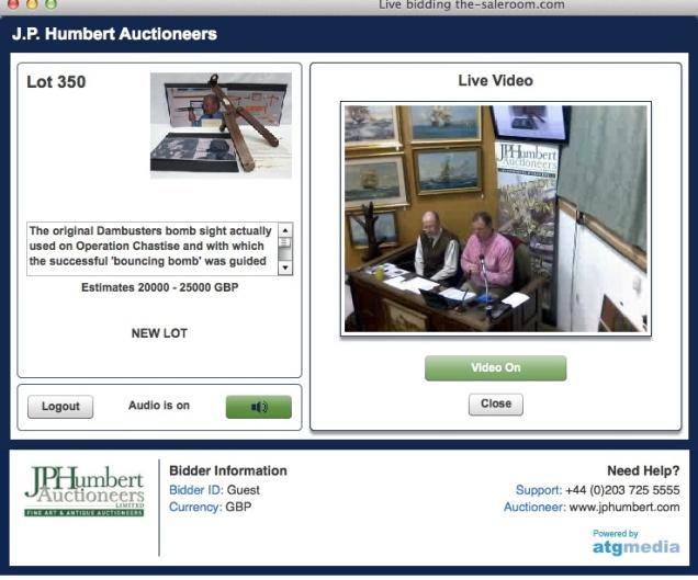 Auction screenshot