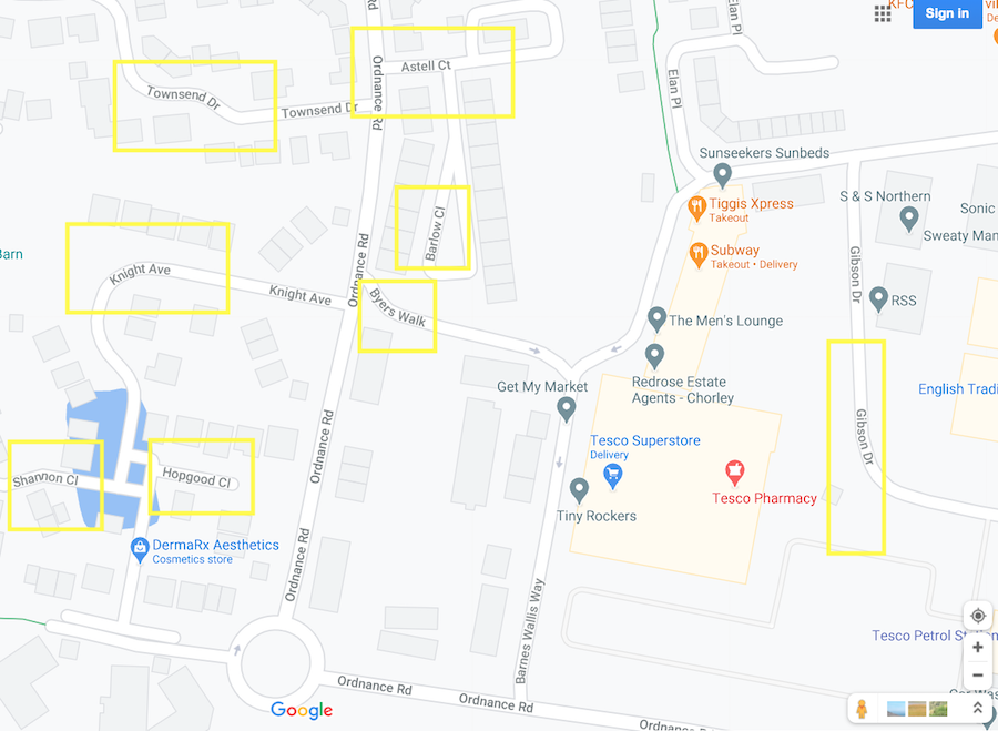 Buckland Village map 900px
